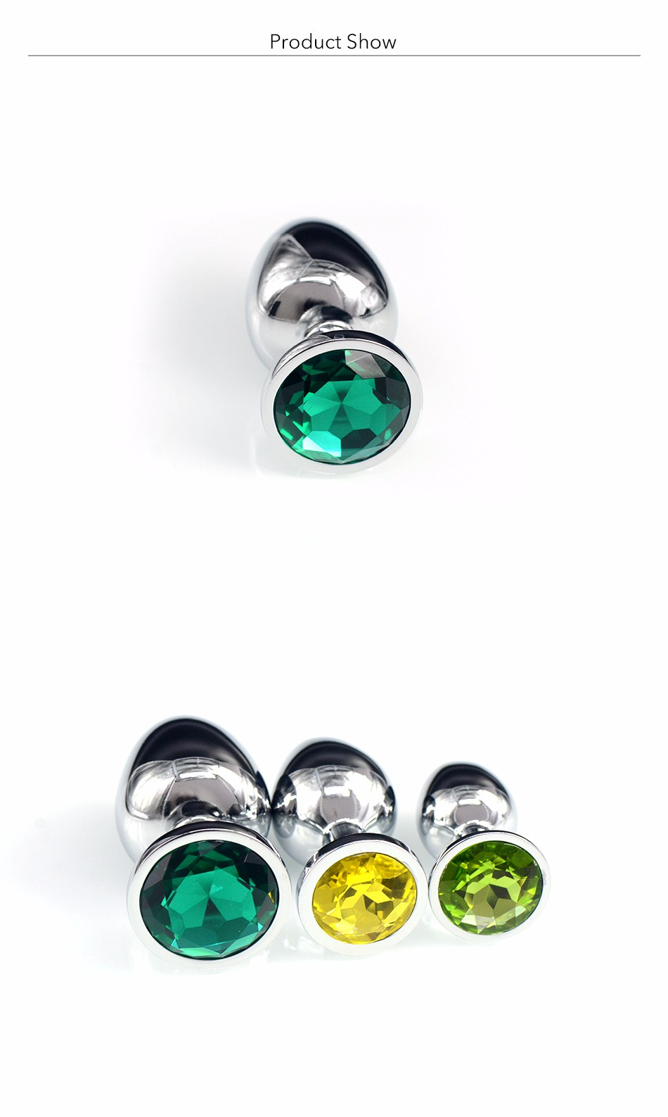 Au Reve One Piece Metal Anal Plug Sex Toys With Crystal Jewelry Booty Beads Sex Toys For Women Men Couple 4