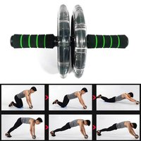 200mm Double wheeled Muscle Trainer Abdominal Wheel Noiseless Body Builder Gym Tool Fitness Equipment Exercise Accessories