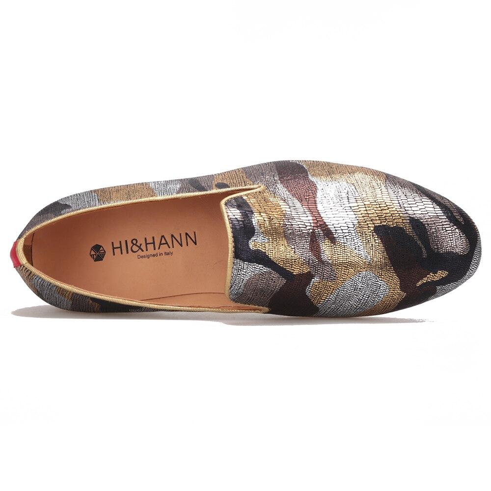 Hombres Bottom Multiple Fumar Cuero De A 2017 Hombre Camuflaje Genuino Oro Zapatos Estilo Británico Zapatillas Plantilla Lujo Hechos Mocasines Y Mano xOqwaIBRw4