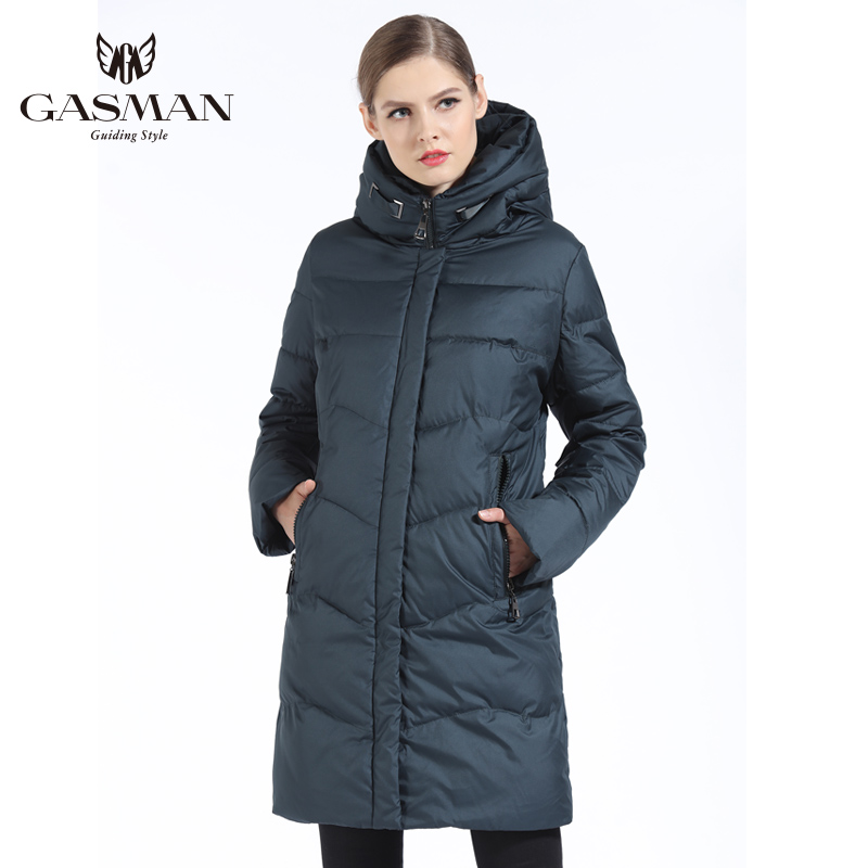 GASMAN 2018 Women Winter Jacket Down Long Female Winter Thick Coat For Women Hooded Down Parka