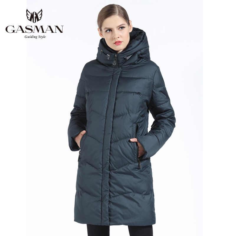 GASMAN 2019 女性の冬のジャケットダウンロング女性の冬厚いコート女性のフード付きダウンパーカー暖かい服プラスサイズ 7XL 6XL