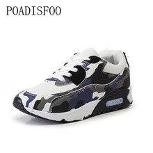 POADISFOO 2017 Neue frauen Schuhe Niedrige Flache Mit luftpolster Schuhe Gump Schuhe Flut Weiblichen Studenten Camouflage Casual schuhe. ZH-08