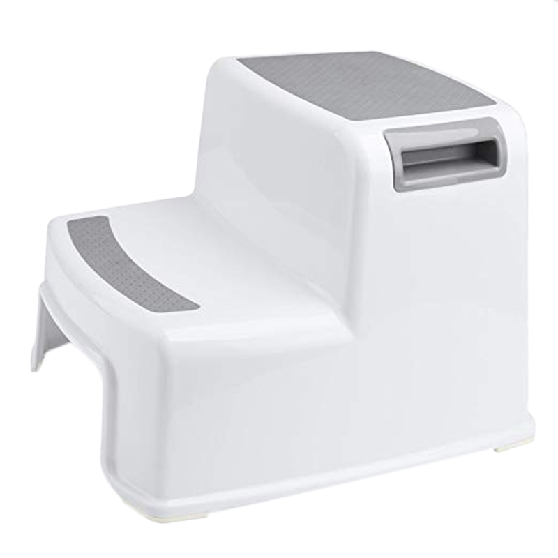Wide+2 Step Stool For Kids Toddler Stool For Toilet Potty Training Slip Resistant Soft Grip For Safe As Bathroom Potty Stool A