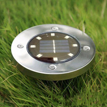 8 LED Solar Lawn night Light Decor outdoor waterproof water resistant under ground lamp bulb