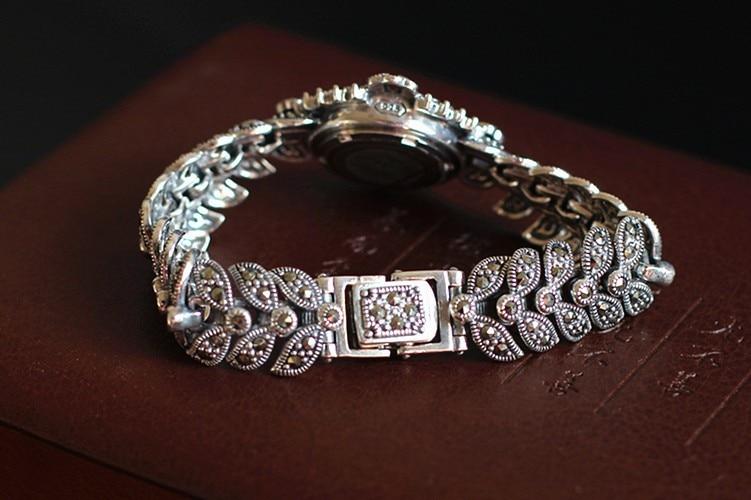 thai puro pulseira de prata relógios tailândia