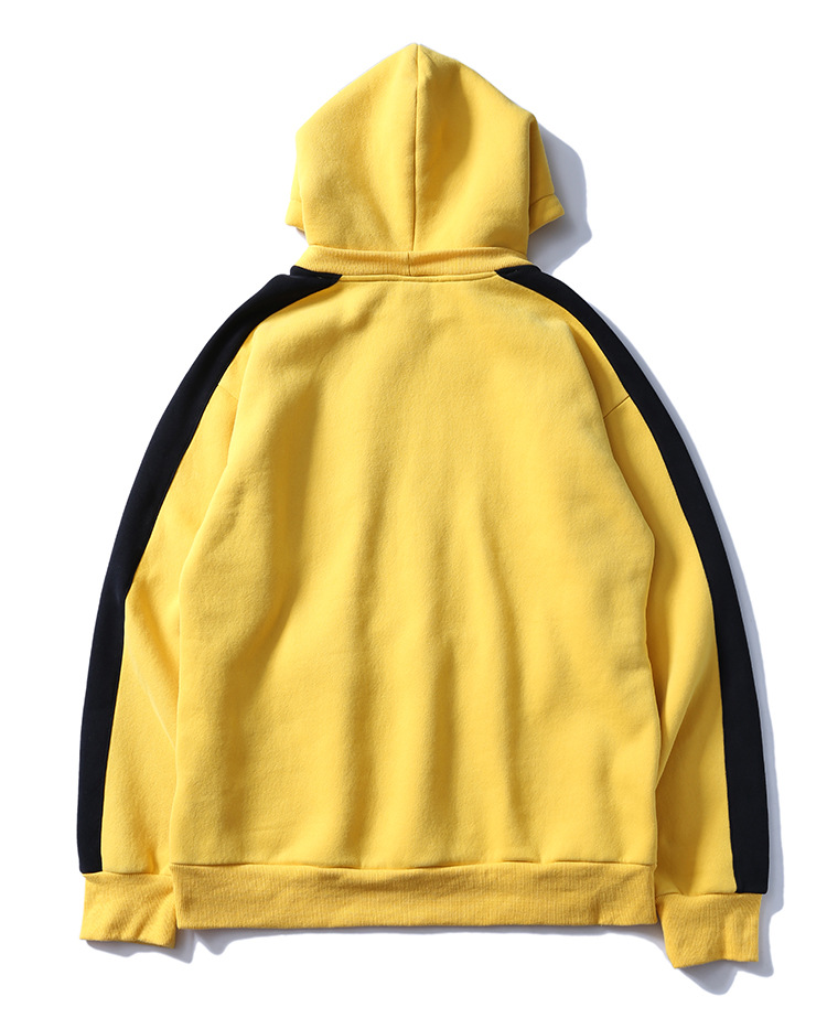 Aolamegs Hoodies Men Side Striped Hood High Street Pullover Cotton Fashion Hip Hop Streetwear Casual Big Pocket Hoodie Autumn (39)