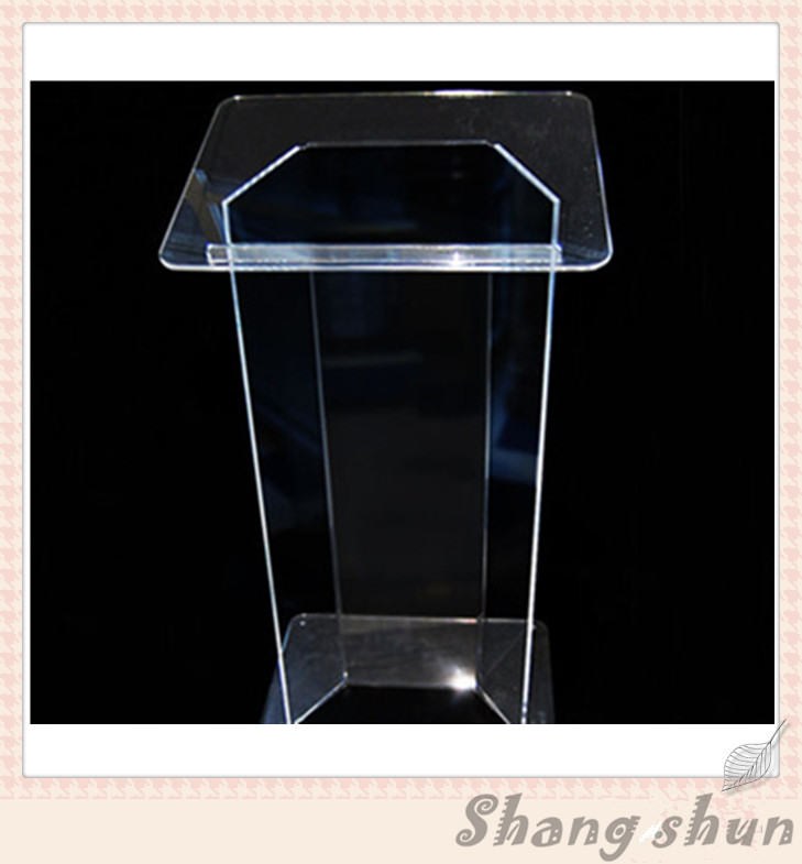 Clear Acrylic Podium Acrylic Lectern Lucite Chruch Podium/Transparent Pmma Pulpit clear