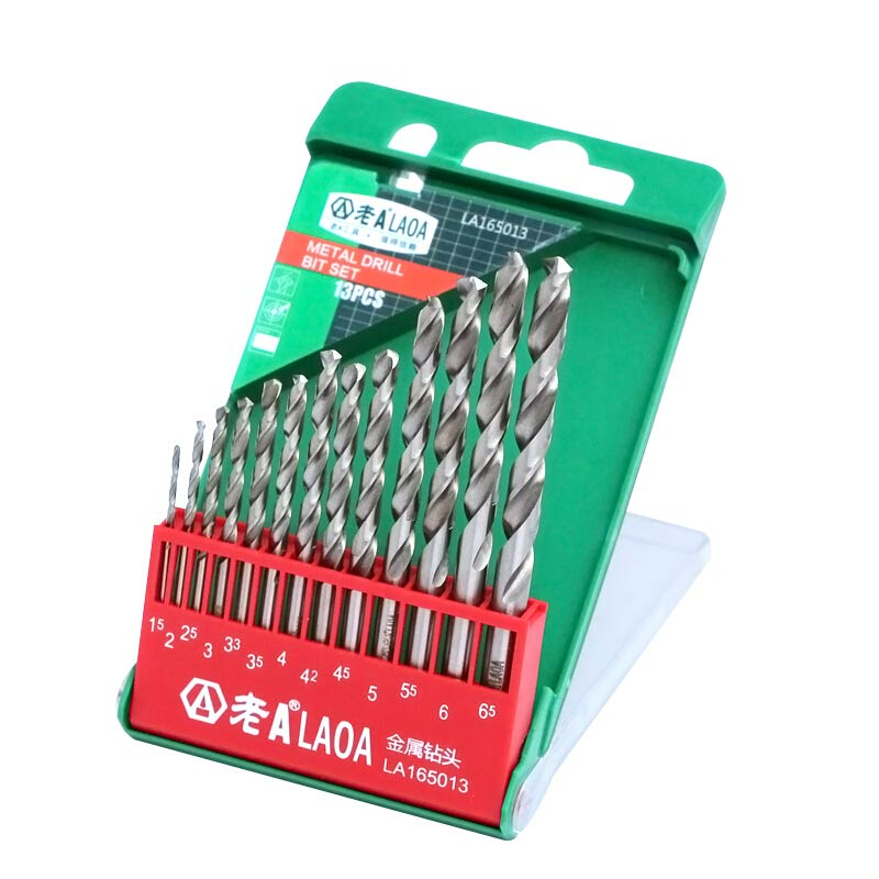 LAOA 7/13/24pcs High Speed Steel Twist Drills Set M2 Stainless Steel Sharp and Durable Drill Bits for Metal 6542HSS Metal Drill wlxy wl 1301 high peed steel drills set 13 pcs page 4