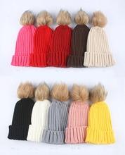 2017 New Fashion Warm Comfortable Pompom Style Autumn Winter Faux Pompom Hat