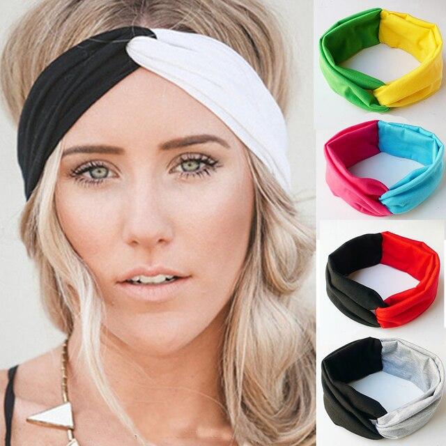 Solid Twist Headbands Girls Cotton Turban Knot Head Wrap Headband Twisted  Knotted Hair Band headband hair accessories 680e7d569c9