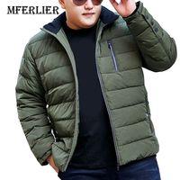 MFERLIER осень зима толстые Куртки 5XL 6XL 7XL 8XL 9XL 10XL Большие размеры Теплые Длинные рукава зимние куртки 3 вида цветов