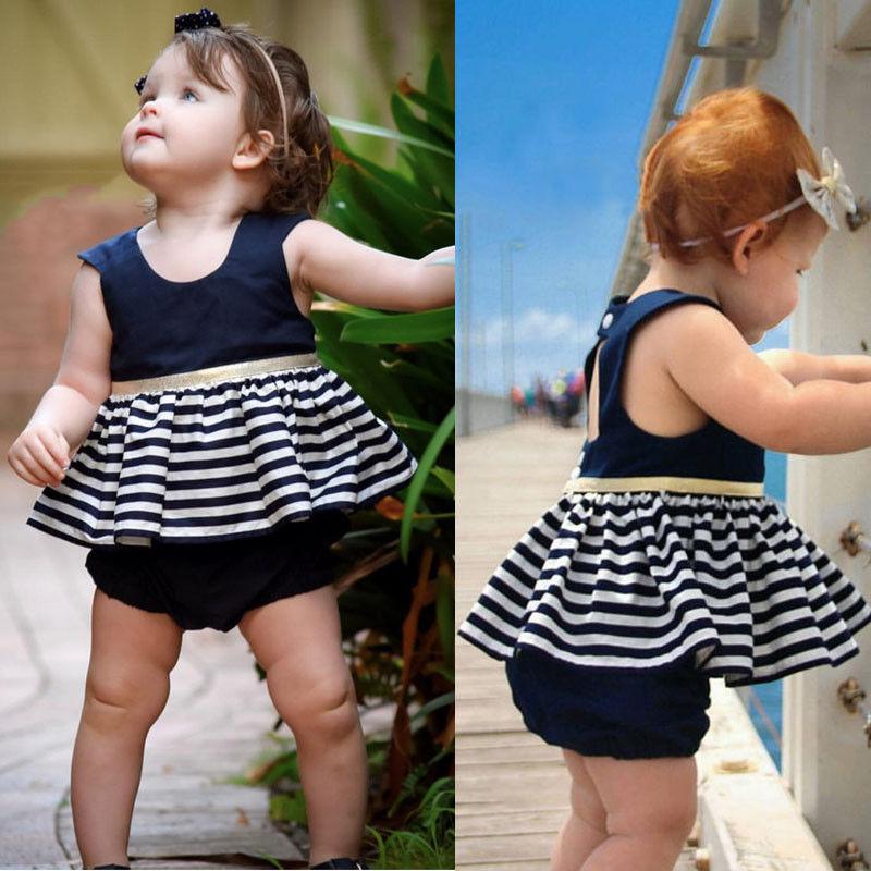 Newborn-Baby-Girls-Party-Princess-Pageant-Tutu-Dress-Kid-Toddler-Navy-Blue-Dresses-3