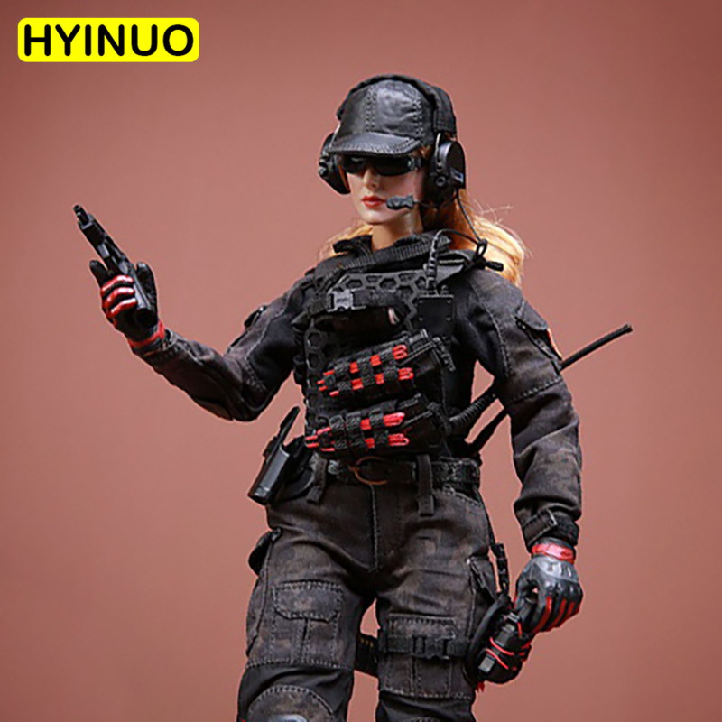 <font><b>1/6</b></font> <font><b>Scale</b></font> FT007 Fighting Girl <font><b>Female</b></font> Military Uniform Women Sexy Battle Suit <font><b>Clothes</b></font> Clothing Set For 12
