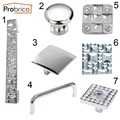 Probrico Modern Furniture Drawer Knobs Zinc Alloy Polished Chrome Kitchen Cabinet Handles Cupboard Pulls