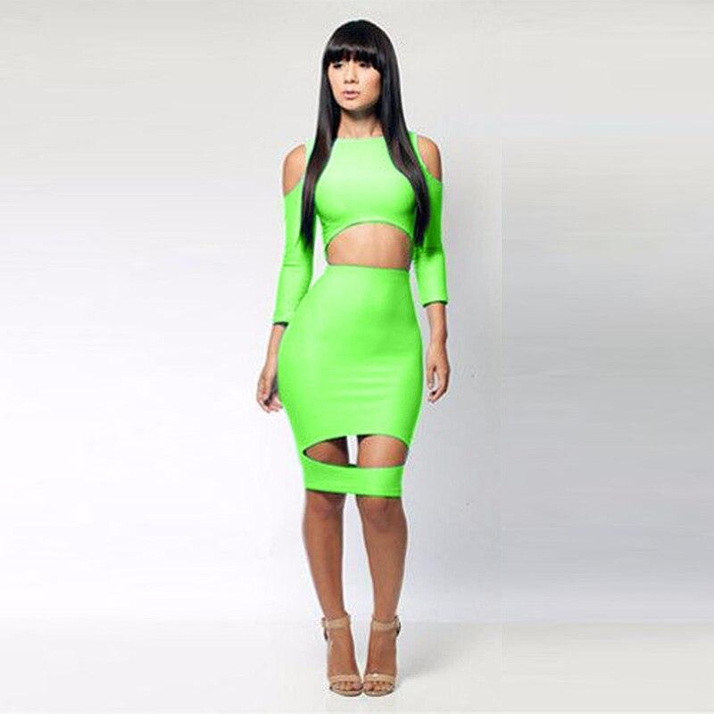 f98508a0f67 Merveille beauté bonne qualité Sexy femmes robe mi-longue manches hors  épaule évider robe de