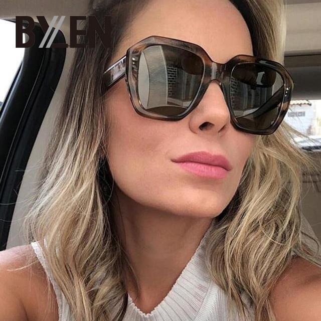 17072dbc3b77e5 2019 platz Sonnenbrille Frauen Männer Luxus Marke Designer Großen Rahmen  Gradienten sonnenbrille Vintage Sonnenbrille Weiblichen Brillen UV400