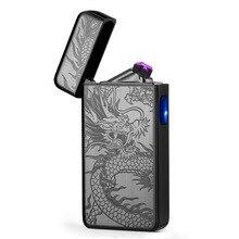 Special Electric Cigarettes Lighters Double Arc USB Plasma L