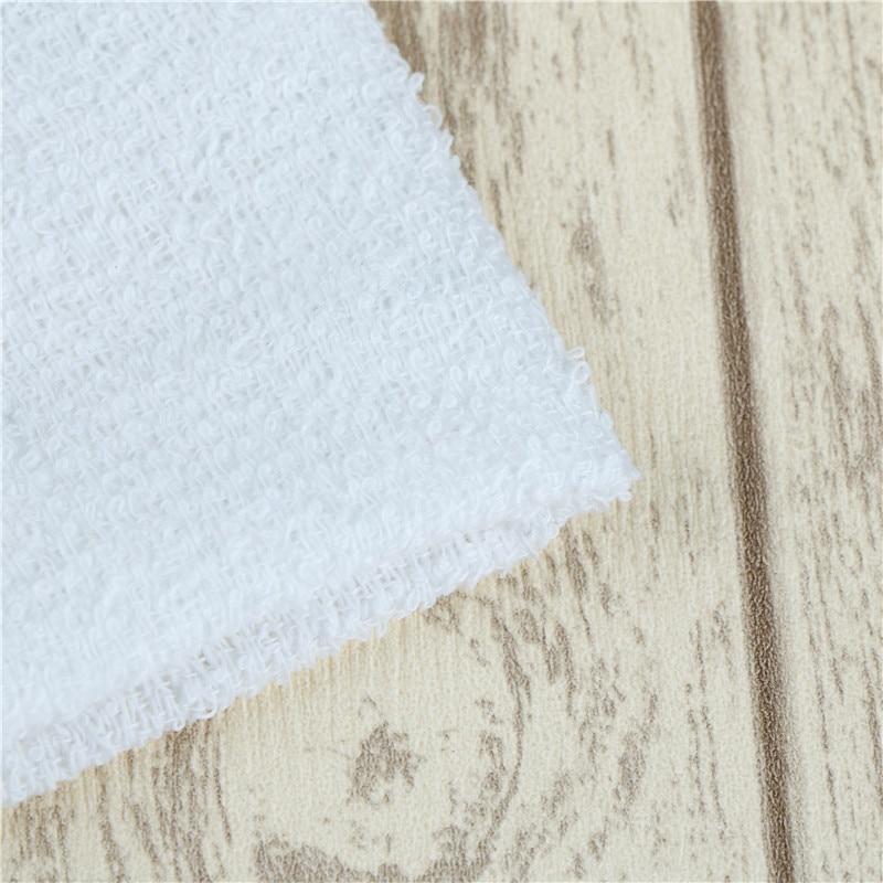 Novelty 6pcs White Square Cotton Face Hand Car Cloth Towel House Cleaning DSUK