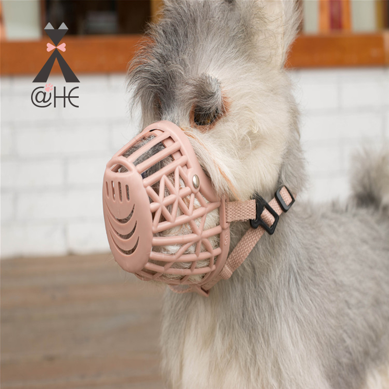 @HE Adjusting Pet Dog Muzzle New 1Pcs 7 Sizes Plastic Strong  Dogs Muzzle Basket Design Anti-biting Dog Mouth Mask For Dogs Cats 2
