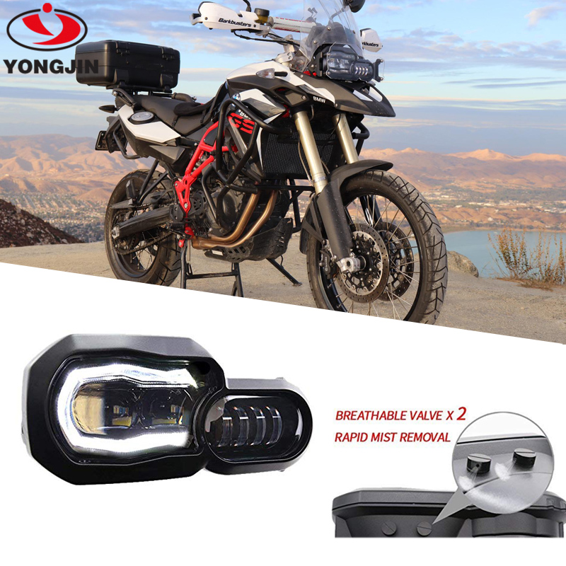 High/Low Beam Led Headlight With Angel Eye DRL Assembly Kit And Replacement Headlight For BMW F650GS/F700GS/F800GS F800 GSA