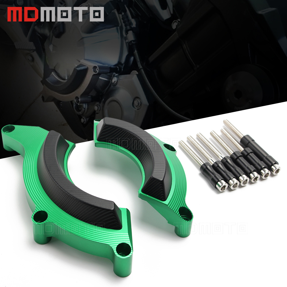 MDMOTO CNC Aluminum Motorcycle Accessories Engine Cover Protection Cover For Kawasaki Z900 2017 Engine Protective Cover green cnc engine cover cross derby