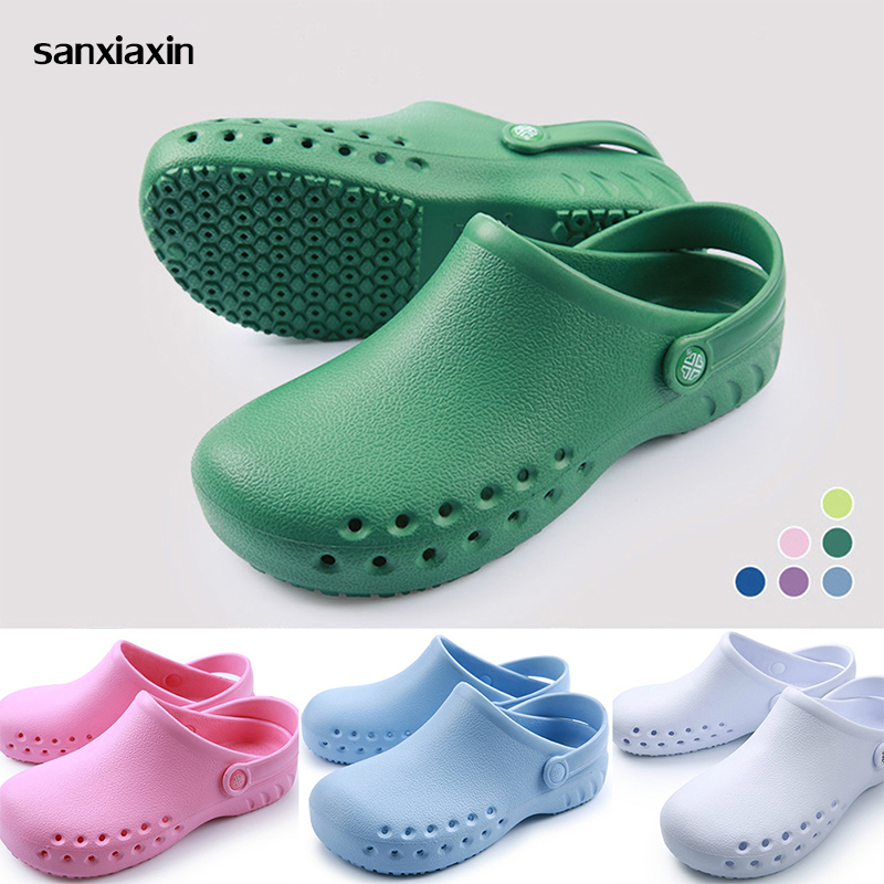 Sanxiaxin Chef Shoes Breathable Non-Slip Kitchen Working Shoes Summer Hospital Doctor Nurse Shoes Medical Shoes Casual Footwear