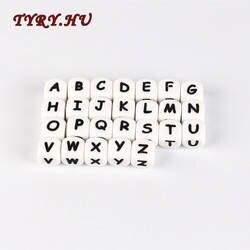 Тыры. Ху 10 шт письмо силиконовые бусины, прорезыватель шариков жевательной бусы с алфавитом для персонализированные имя сделай своими