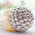 Букет де mariage жемчуг брошь букет Невесты Свадебное кристалл Свадебный Букет на заказ букетов
