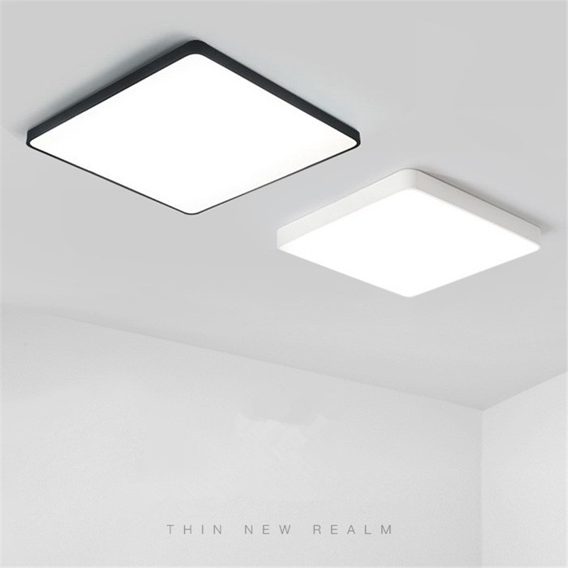 Nordic Led ultra-thin ceiling lamp creative living room bedroom balcony aisle restaurant dimmable square lamps free shipping цена 2017