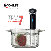 IPX7 Vacuum Slow Sous Vide Food Cooker 1200W Powerful Immersion Circulator LCD Digital Timer Display Stainless Steel