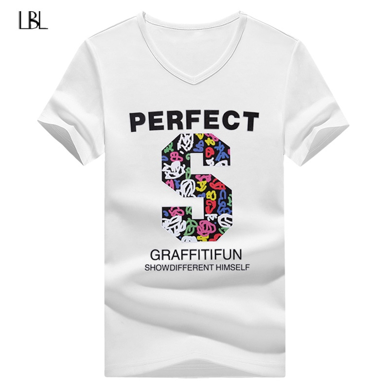 Summer Hip Hop Letter Print T Shirt Men Fasion Tshirts Men camisetas hombre 2018 New Casual Print Short Sleeve Plus Size 4XL