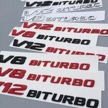 Emblem-Badge Refitting-Sticker Supercharge Letters Turbo-Logo C63 V12 V8 Mercedes-Benz