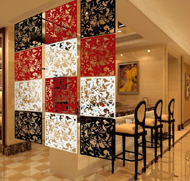 4pcslot hanging folding screen family hotel exhibition hall office wedding arrangement personalized retro wall cheap office dividers