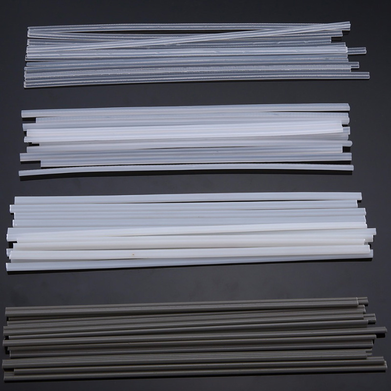 50pcs Plastic Welding Rods ABS/PP/PVC/PE Welding Sticks 200 X 5 X 2mm For Plastic Welding
