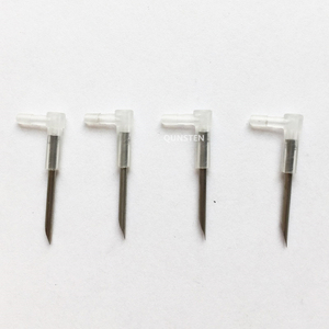 4PCS/Lot DIY CISS L Bend Elbow With Long Steel Sharp Needle Ink Tube Elbow CISS Hose Elbow Tube Connector Elbow Length 27MM(China)