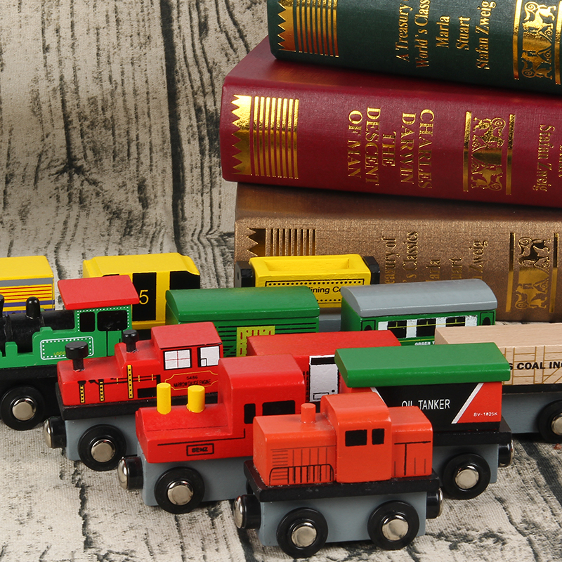 Wood Train Magnetic Car Toys Kids Railway Train Set Wooden Puzzle Accessories Juguetes Magic Track Educational Toys for Boys стоимость