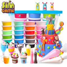 SIMCASTLE Children Super Light Clay 12 Color 24 Color Safe Non-toxic Clay Children Shape Tasteless Clay