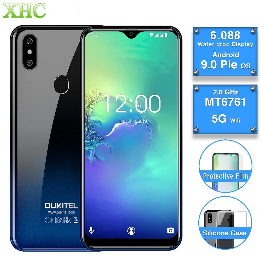 OUKITEL C15 Pro 2 GB 16 GB Android 9.0 téléphone portable Quad Core empreinte digitale visage déverrouiller 4G LTE Smartphone double SIM Waterdrop écran