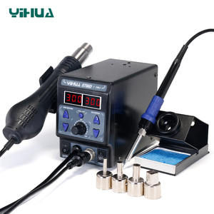 Image 2 - YIHUA 8786D I SMD Soldering Stationคู่Digital Display Cool Hot Air Gun Soldering Iron 2 In 1 Rework Station
