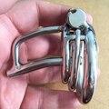 Novo Bloqueio Pequenos Dispositivos de Castidade Masculino Com Cateter Uretral Som Brinquedos Adultos Do Sexo Para Homens 5 CM comprimento Gaiola Galo