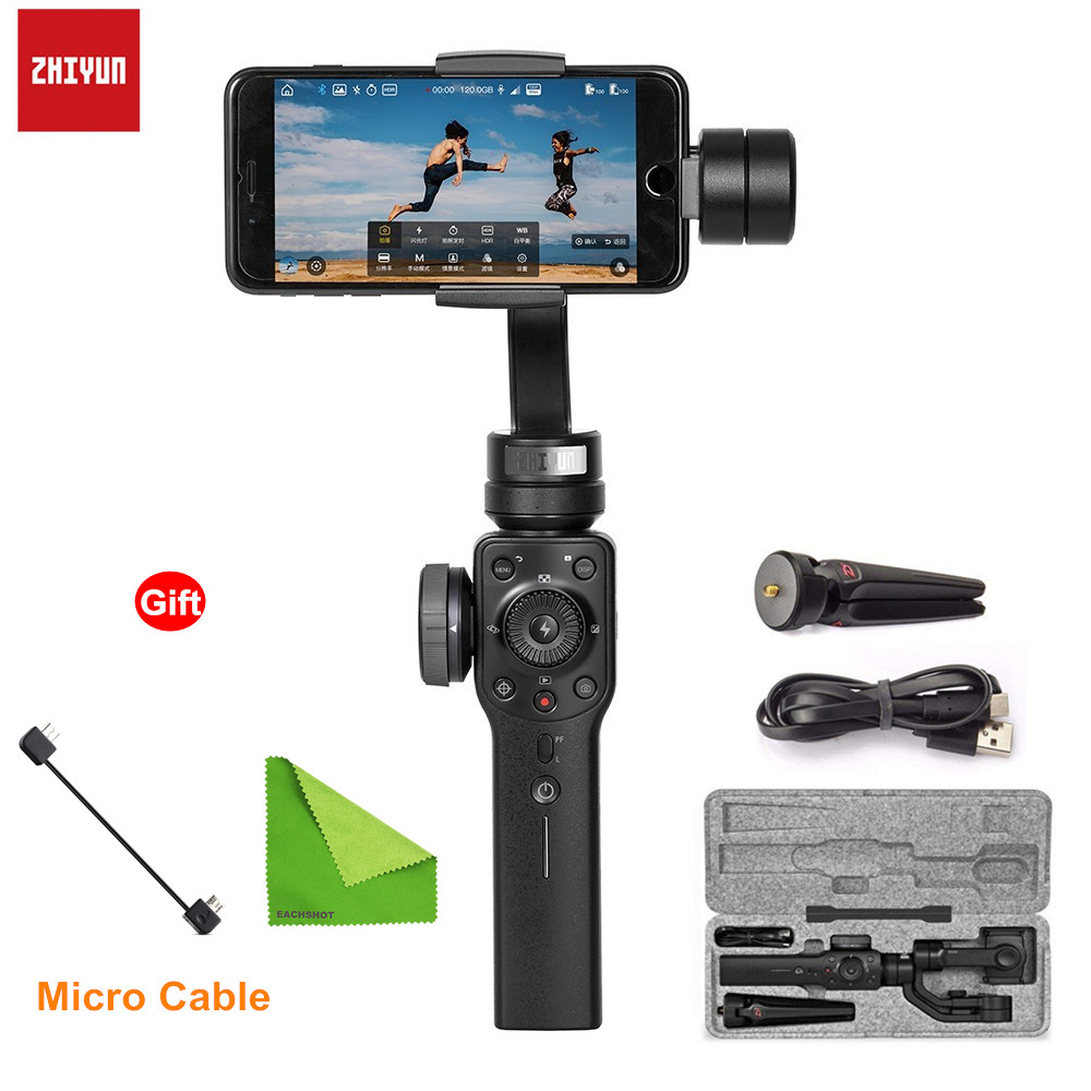 Zhiyun Smooth 4 3 Axis Mobile Handheld Gimbal Stabilizer For Iphone 8 X Samsung S8 Plus