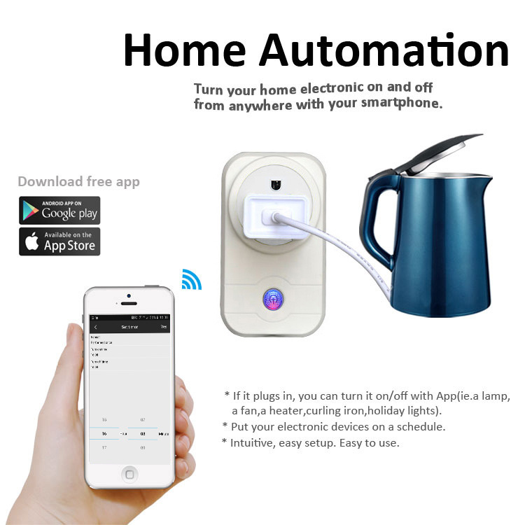 smart socket smart home Voice control socket Europe and America wifi ring socket in Electrical Sockets from Home Improvement