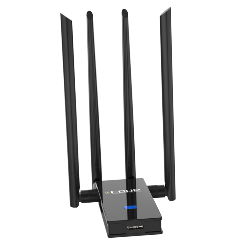 EDUP 1900Mbps USB WiFi Adapter 5Ghz USB 3.0 802.11ac Dual Band 4*6dbi WiFi Antenna Wi-Fi Receiver Support Windows Mac for PC edup 5ghz usb wi fi adapter 1900mbps 802 11ac long distance wifi receiver 4 6dbi antennas dual band usb 3 0 ethernet adapter