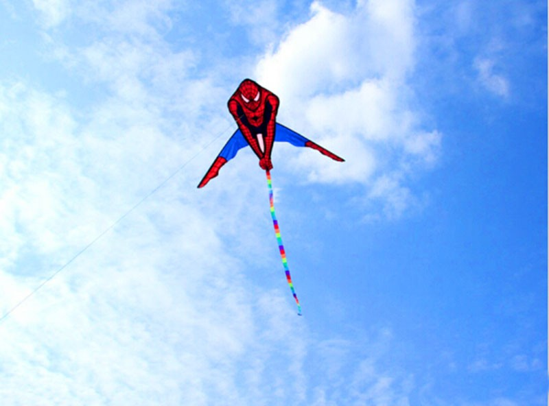 Высокое качество Аватар кайт Человек-паук кайт дельта кайт Летающий хорошо популярный с ручкой линия Вэйфан Кайт завод