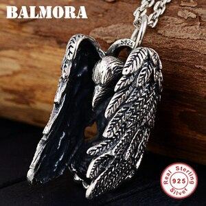 Image 2 - BALMORA 925 Sterling Silber Eagle Charm Anhänger für Frauen Männer Paar Geschenk Punk Coole Vintage Mode Schmuck Ohne Kette