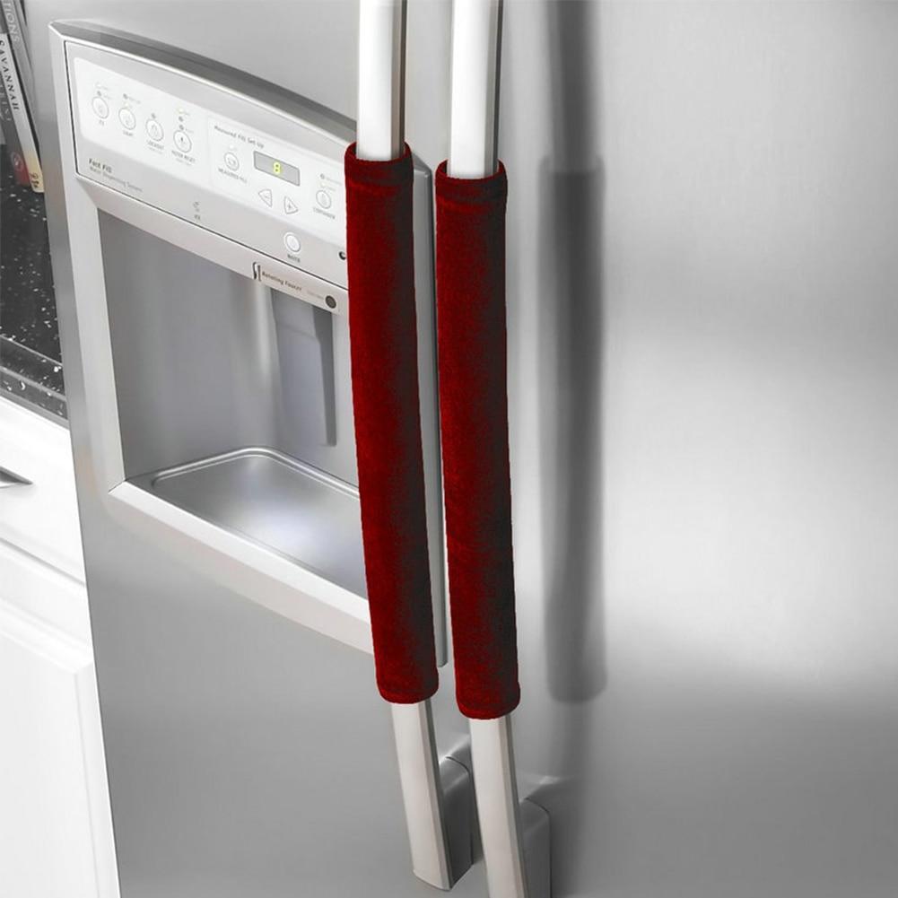 Kitchen Appliance Handle Cover Protector Antiskid Pleuche Gloves Refrigerator Door Oven Decor Dishwasher