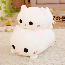 1pc 45cm Amuse Cat Plush Toys for Children White Japanese Soft Baby Stuffed Animals Kids Birthday Gifts