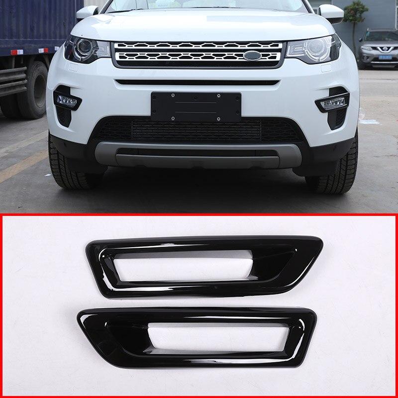 Gloss Black Front Fog Light Lamp Cover Trim For Land Rover