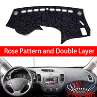Rose Pattern For Kia K3 2013 2014 2015 2016 2017 Dashboard Cover Car Stickers Car Decoration Car Accessories Interior Car Decals