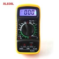 New XL830L Digital Multimeter Portable Multi Meter AC DC Voltage Amp Meter Resistance Tester Blue Backlight